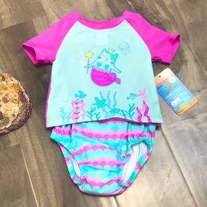 SEA ME SWIM Baby Rash guard and swim diape…